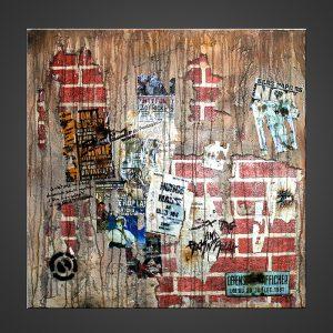 A street - Tableau street art painting - John Beckley