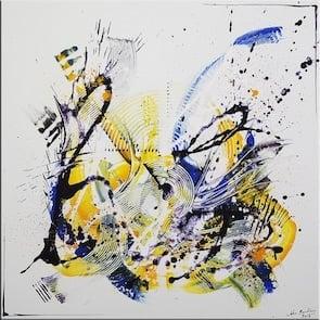 Tableau de l'artiste peintre contemporain, moderne et abstrait - John Beckley