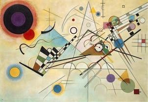Peinture de l'artiste peintre Kandinsky