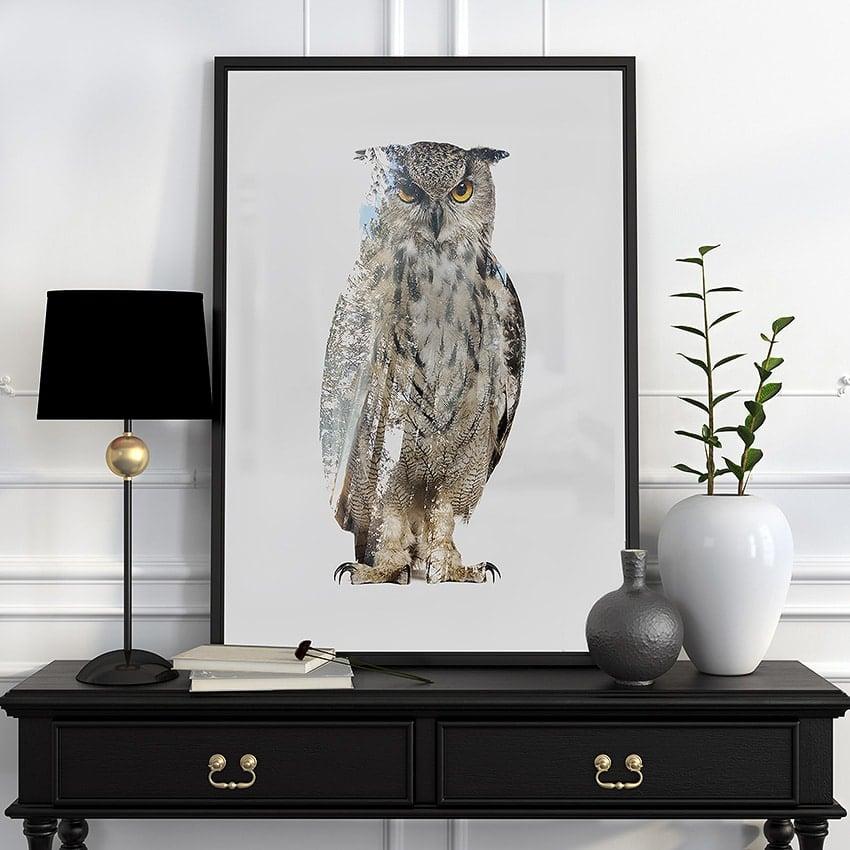 Owl woods - Art Print - Signed / Numbered - John Beckley