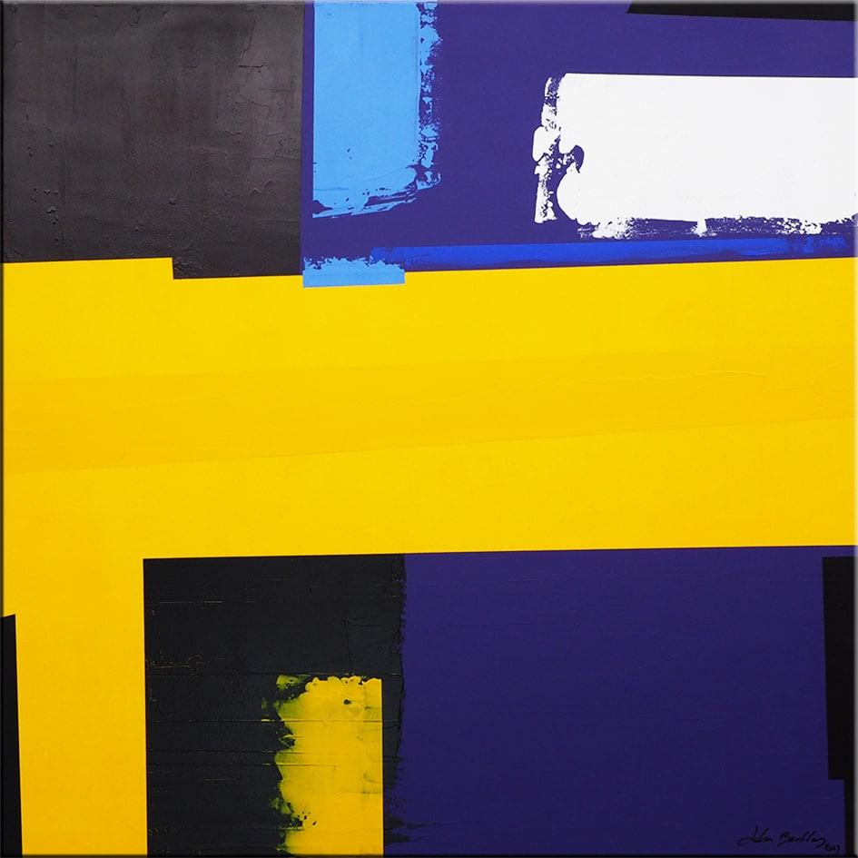 Tableau minimaliste abstrait carr dixium oeuvre d 39 art for Oeuvre minimaliste