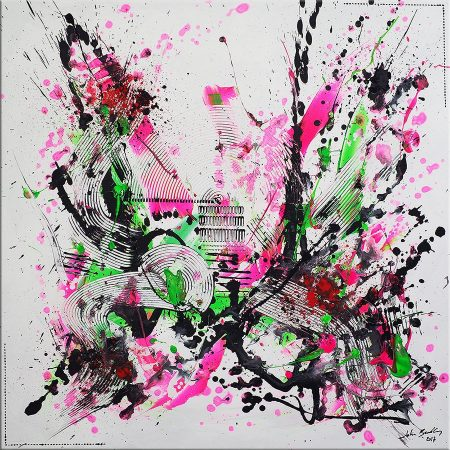 Artiste peintre contemporain john beckley tableau for Artiste art abstrait