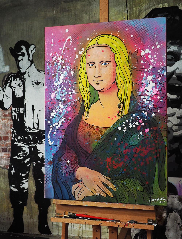 mona lisa pop art portrait joconde hijacked with trendy colors. Black Bedroom Furniture Sets. Home Design Ideas