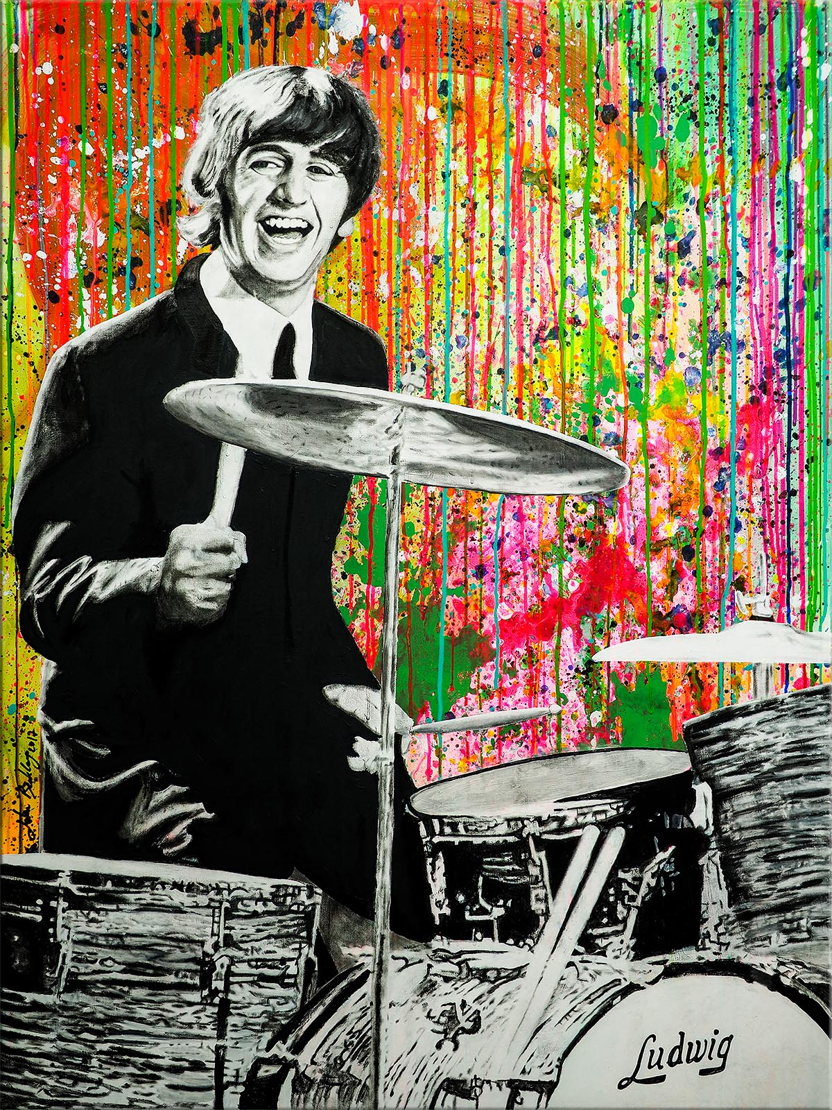 Beatles Pop Art Ringo Starr Painting