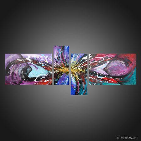 Tableau abstrait quadriptyque Minerva