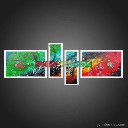 Tableau abstrait quadriptyque Surfer Rosa