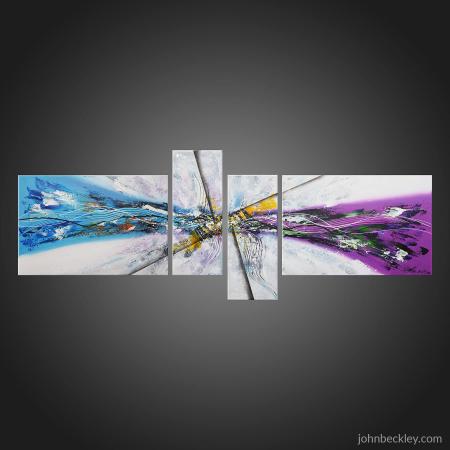 Tableau abstrait quadriptyque Ananzy