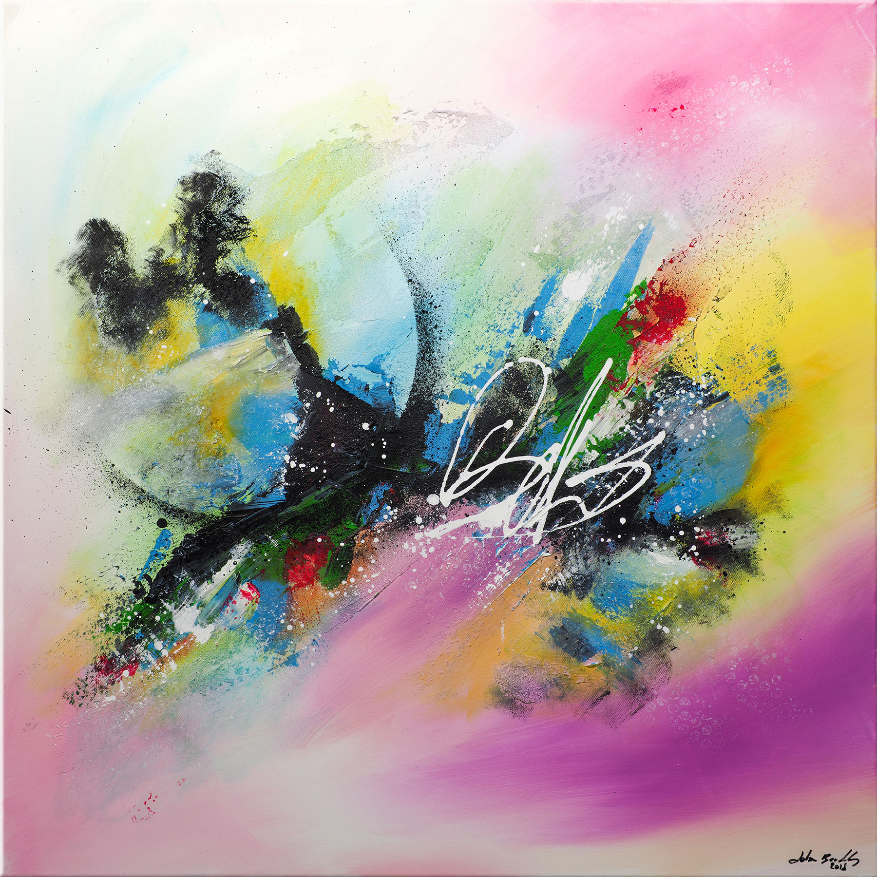 Tableau abstrait Ribes