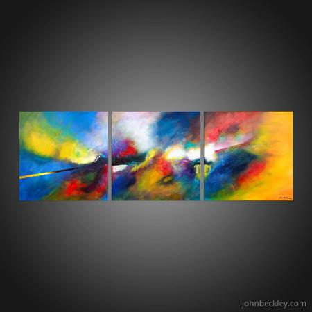 Tableau abstrait triptyque Eternel